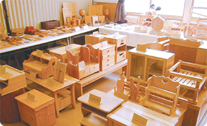 木工教室作品展示